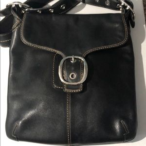 Authentic vintage Coach leather large cross body
